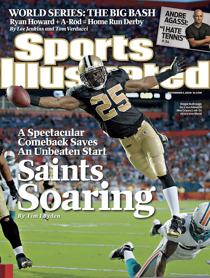 New Orleans Saints Reggie Bush... Sports Illustrated Cover Photograph by Sports Illustrated