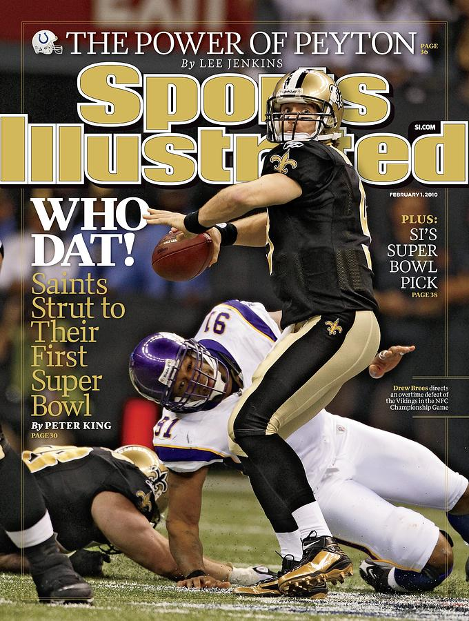 New Orleans Saints Vs Minnesota Vikings, 2010 Nfc Sports Illustrated Cover Photograph by Sports Illustrated
