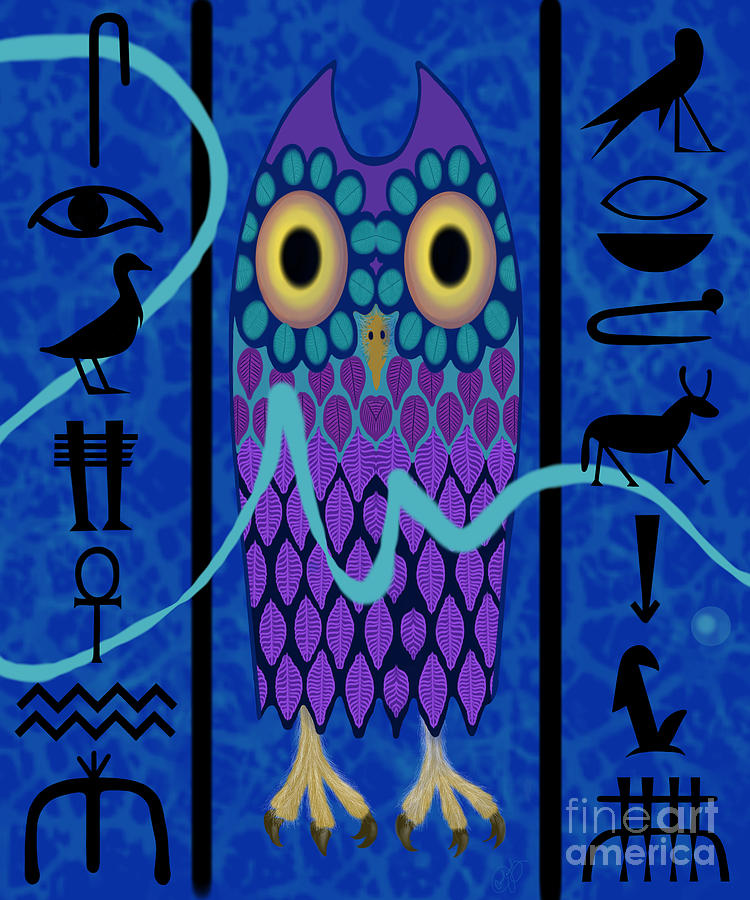 New Owl Glyph by Carol Jacobs