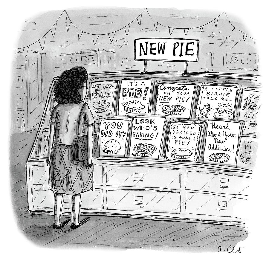 New Pie Drawing by Roz Chast
