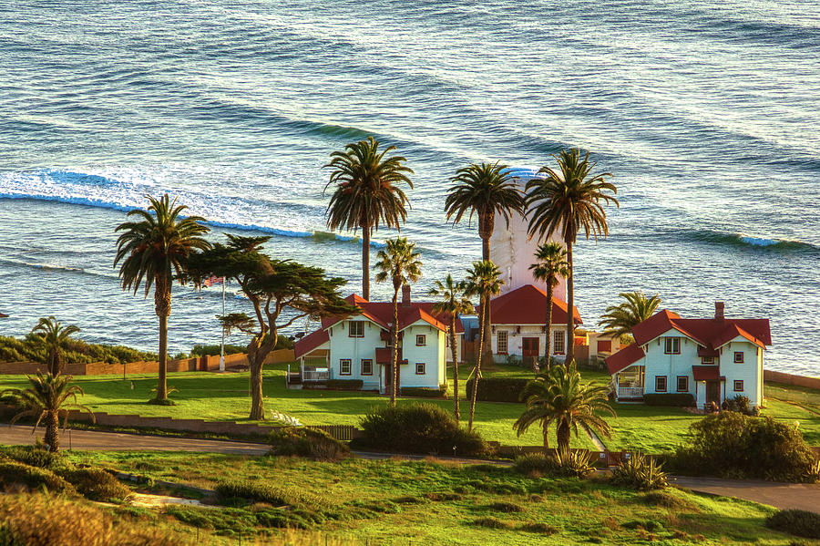 New Point Loma Lighthouse Station  2 by Donald Pash