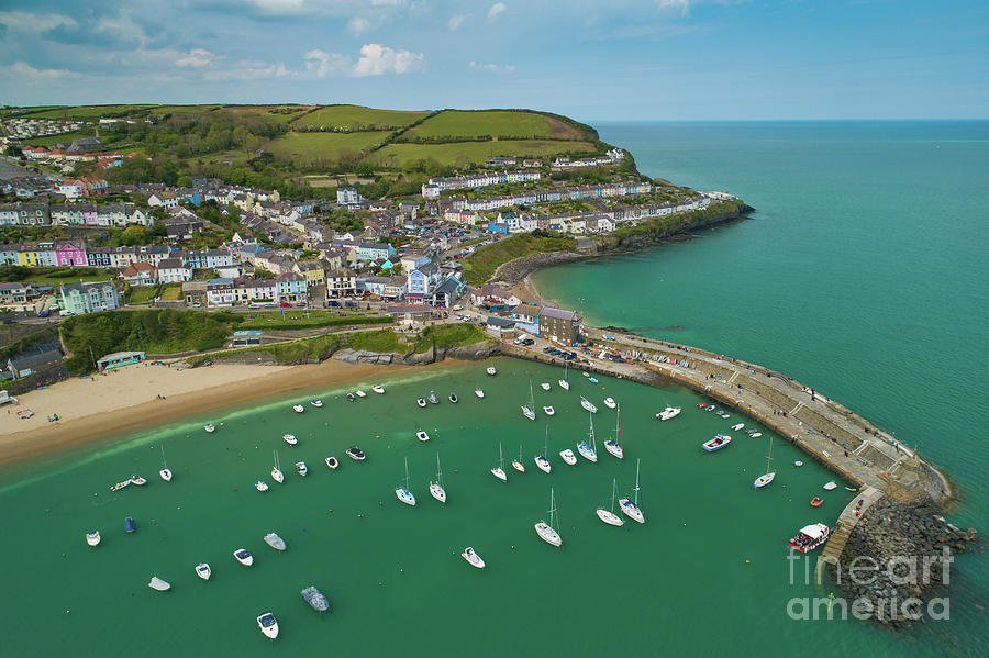 Aerial Photograph - New Quay, Wales, From The Air by Keith Morris