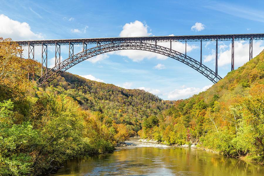 New River Gorge Bridge in Autumn Splendor by Fran Gallogly