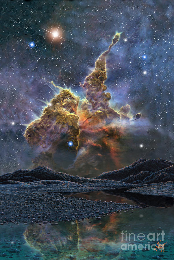 Astronomy Painting - New Stars For Carina by James Hervat