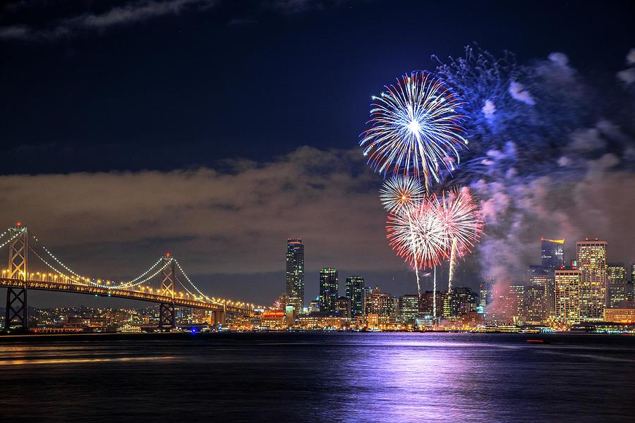 New Year Fireworks Photograph by Piriya Photography