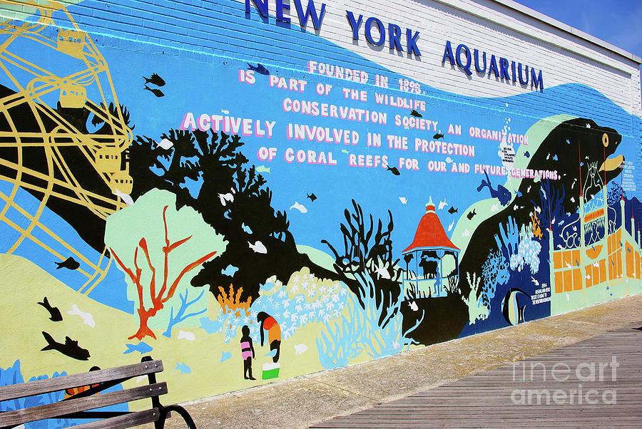 New York Aquarium Photograph - New York Aquarium, Coney Island, Brooklyn, New York by Zal Latzkovich