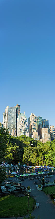 New York Banner Blue Midtown Manhattan Photograph by Fotovoyager