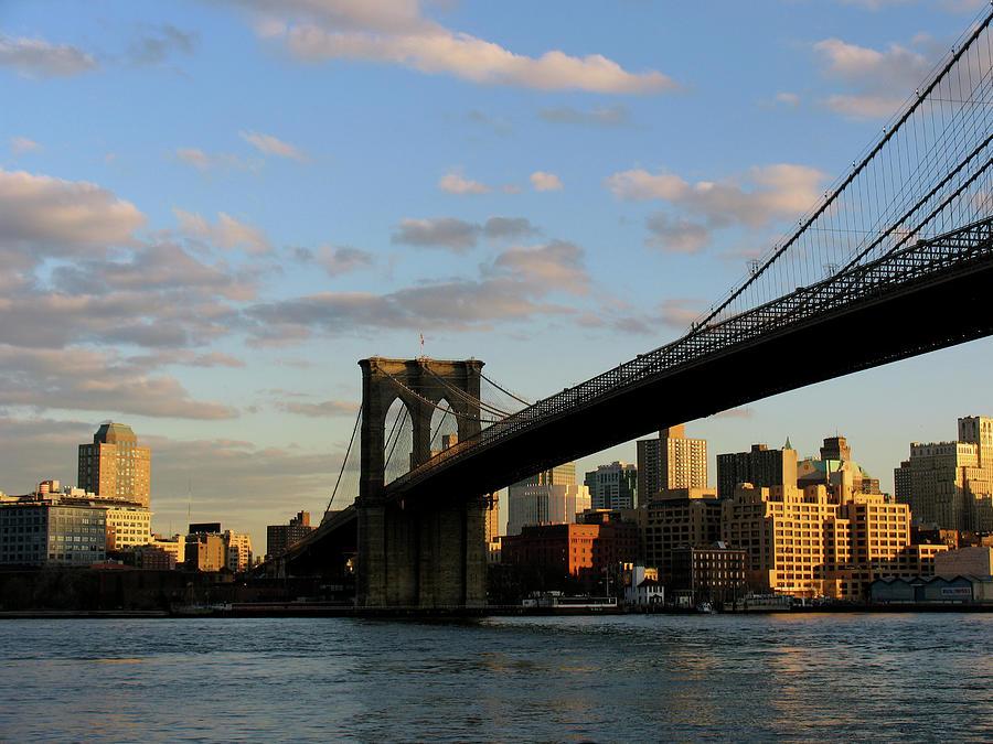 New York - Brooklyn Bridge Photograph by Michael Trueblood