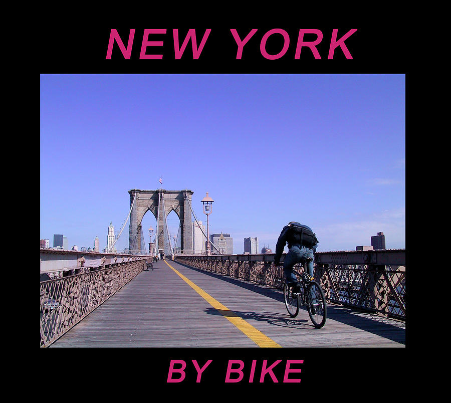 New York By Bike - Brooklyn Bridge by Frank DiMarco
