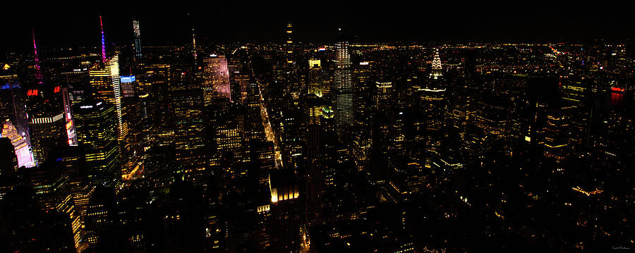 New York City at Night by Crystal Wightman