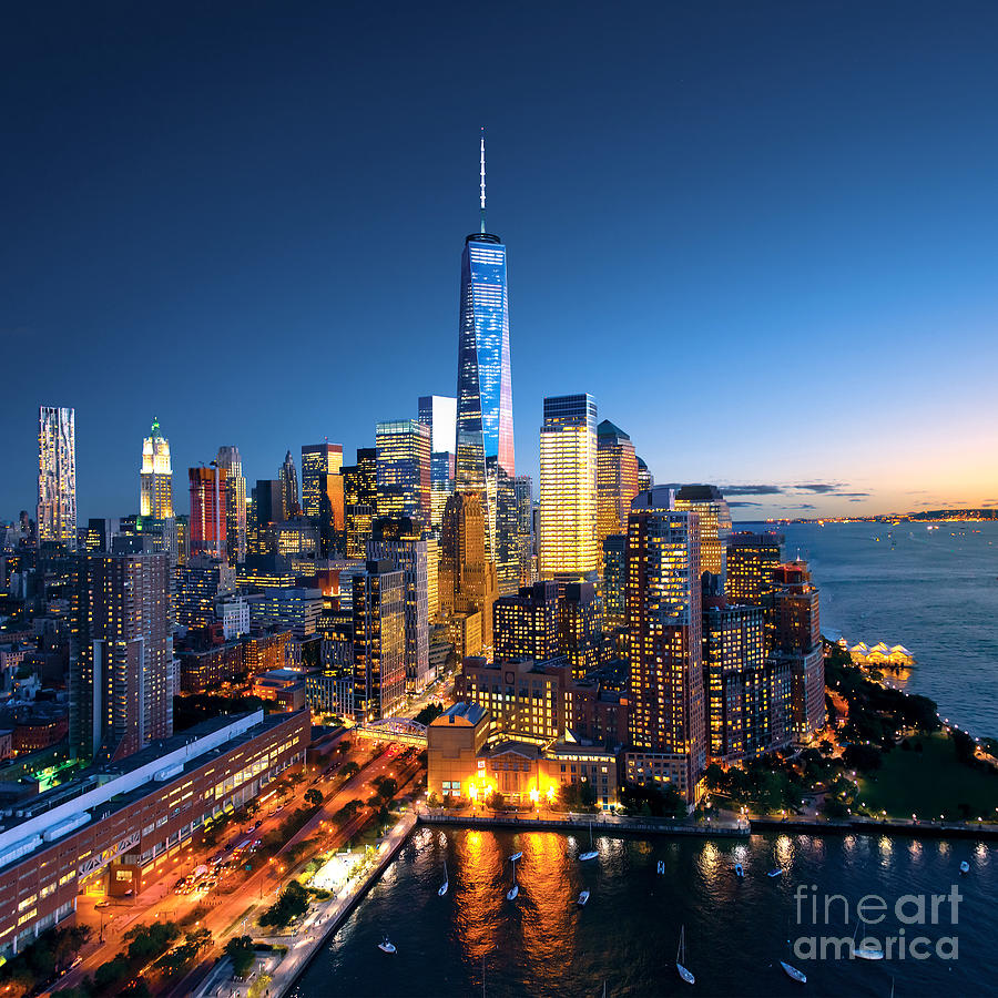 Sunrise Photograph - New York City - Beautiful Colorful by Im photo