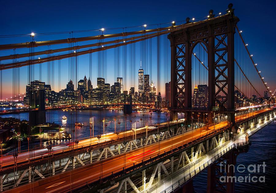 Sunrise Photograph - New York City - Beautiful Sunset Over by Im photo