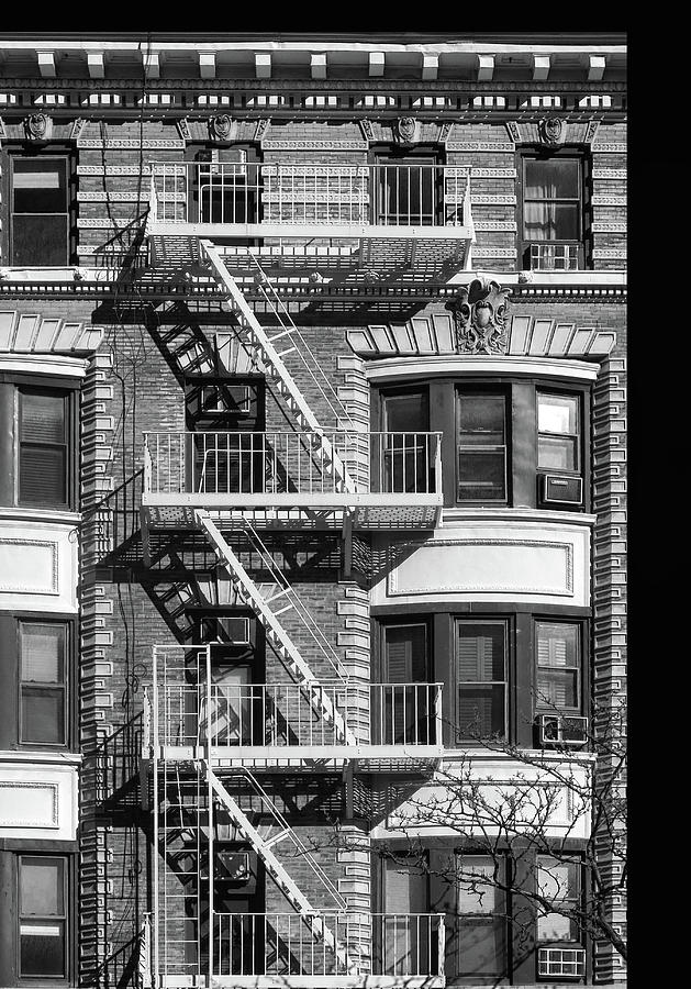 Fire Escape Photograph - New York City Fire Escapes by Dave Mills