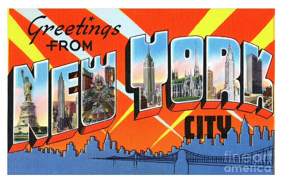 New York City Greetings - Version 1 by Mark Miller