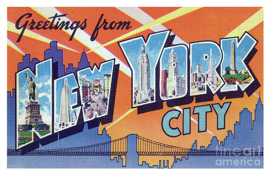 New York City Greetings - Version 2 by Mark Miller