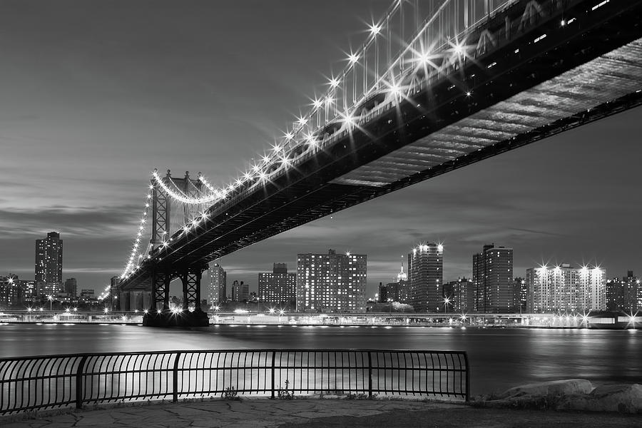 New York City - Manhattan Bridge Photograph by Shutterworx