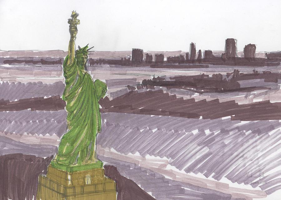 New York City Markers Digital Art