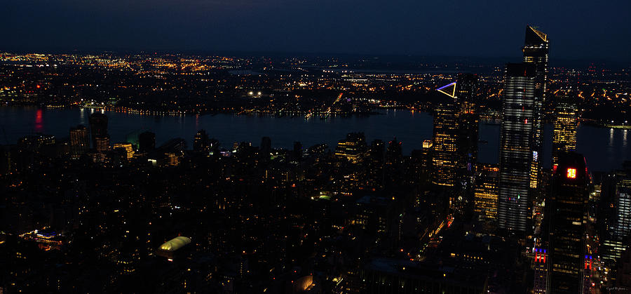 New York City Skyline at Night by Crystal Wightman