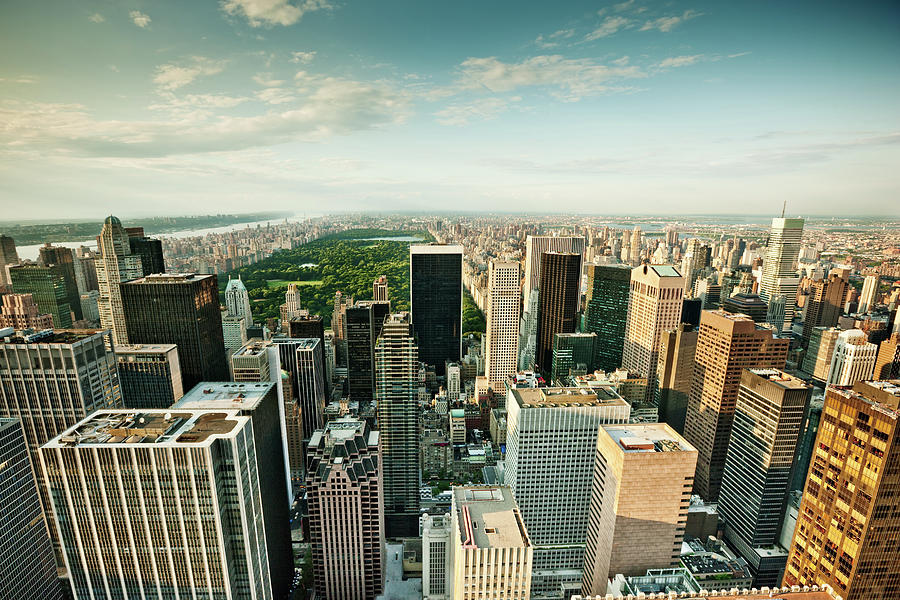 New York City Skyline Central Park Photograph by Mlenny