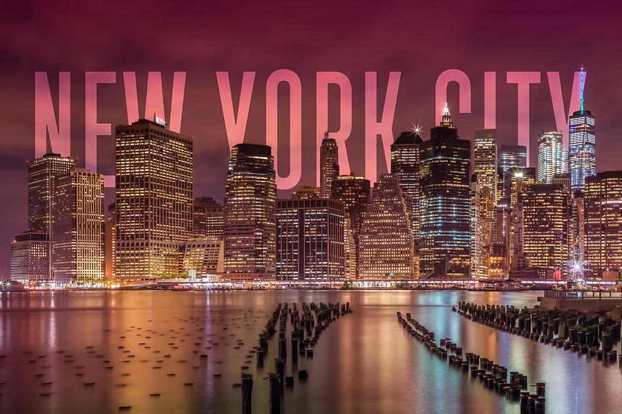 New York City Photograph - New York City Skyline by Melanie Viola