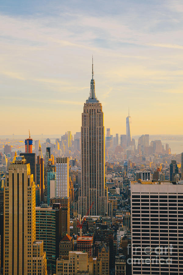 Usa Photograph - New York City Skyline With Urban by Irina Kosareva