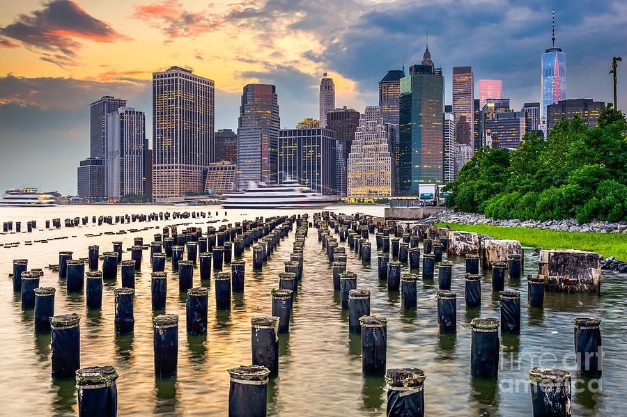 Usa Photograph - New York City Usa City Skyline by Sean Pavone