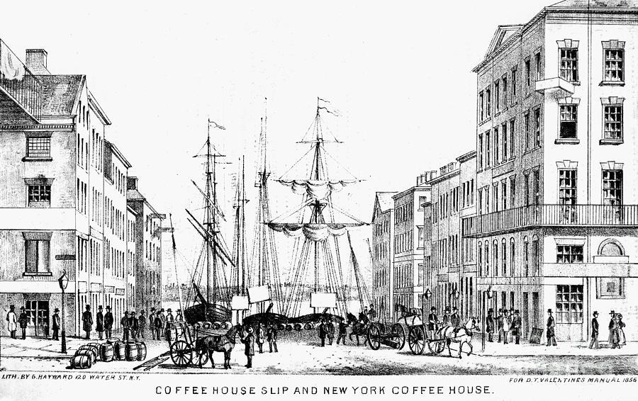 1856 Drawing - New York Docks, 1856 by Granger
