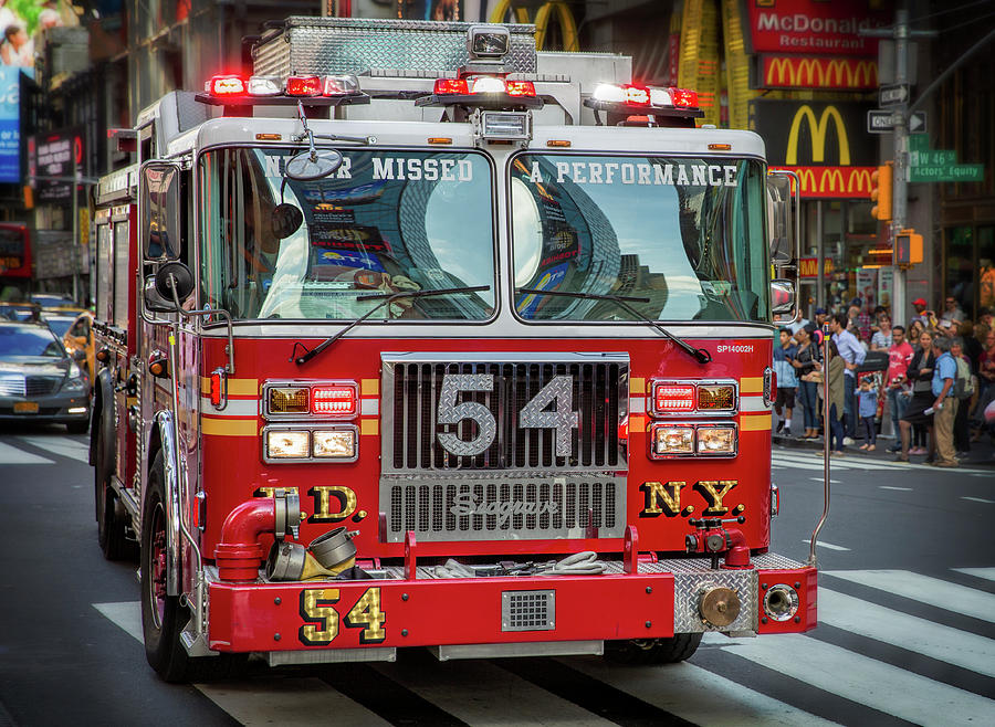 NEW YORK FIRE DEPT RESPONDS by Daniel Hagerman