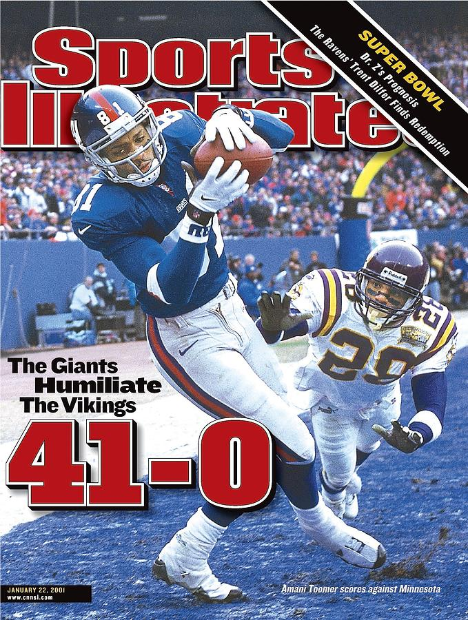 New York Giants Amani Toomer, 2001 Nfc Championship Sports Illustrated Cover Photograph by Sports Illustrated