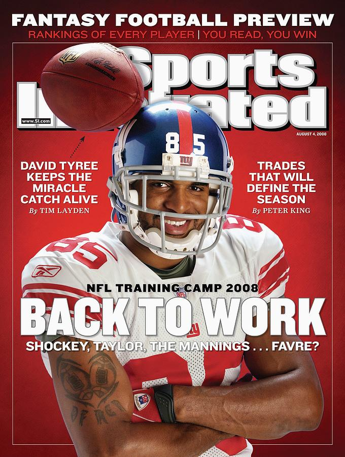 New York Giants David Tyree Sports Illustrated Cover Photograph by Sports Illustrated