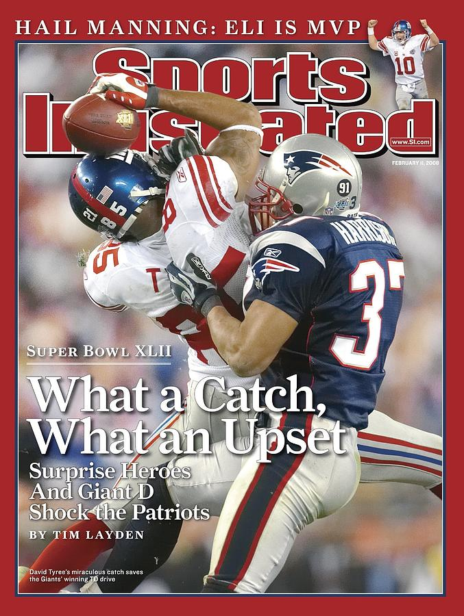 New York Giants David Tyree, Super Bowl Xlii Sports Illustrated Cover Photograph by Sports Illustrated