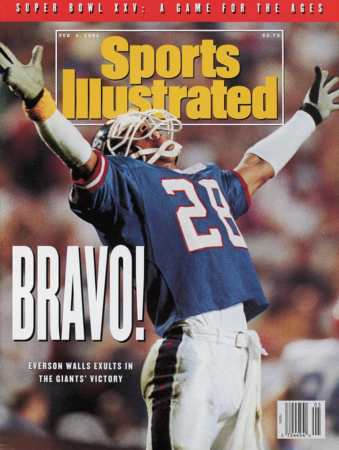 New York Giants Everson Walls, Super Bowl Xxv Sports Illustrated Cover Photograph by Sports Illustrated