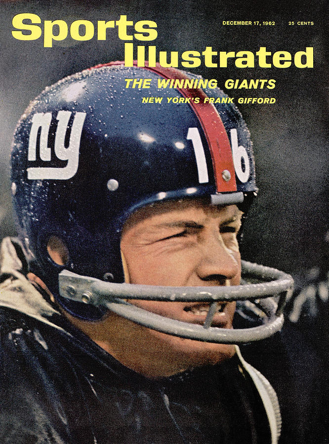 New York Giants Frank Gifford Sports Illustrated Cover Photograph by Sports Illustrated