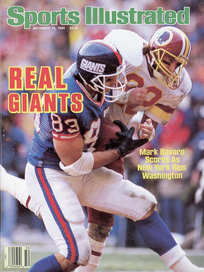 New York Giants Mark Bavaro... Sports Illustrated Cover Photograph by Sports Illustrated