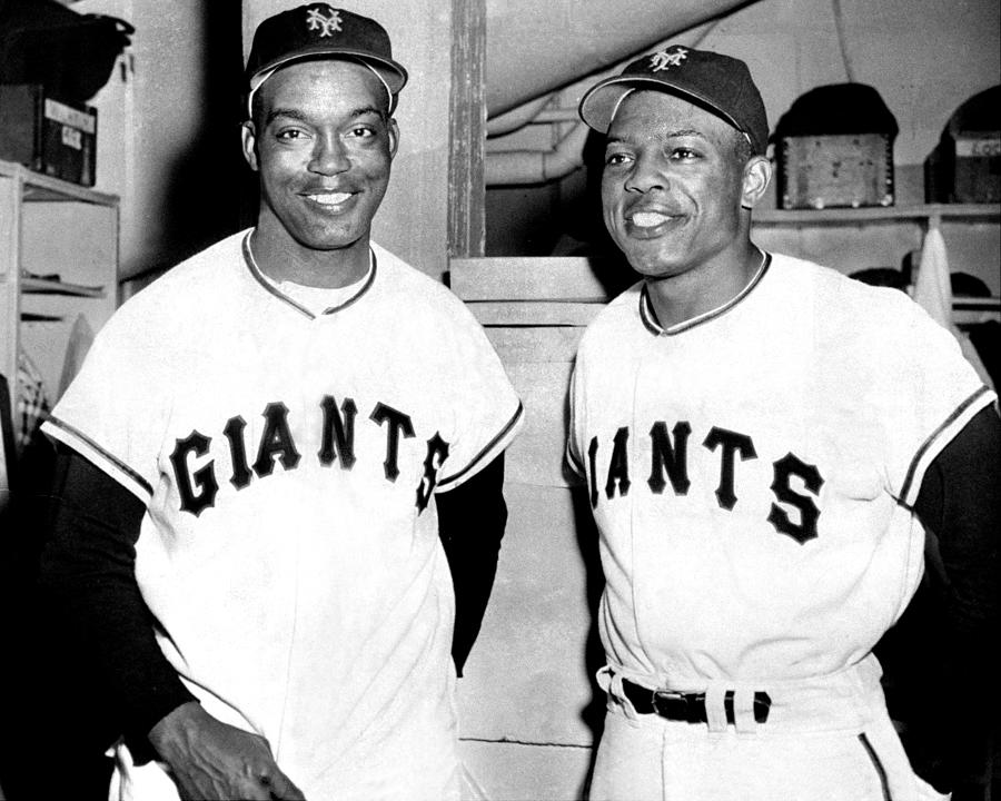 New York Giants Monte Irvin L. And Photograph by New York Daily News Archive