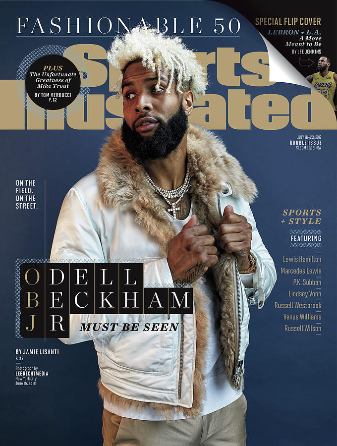 New York Giants Odell Beckham Jr., 2018 Fashionable 50 Issue Sports Illustrated Cover Photograph by Sports Illustrated