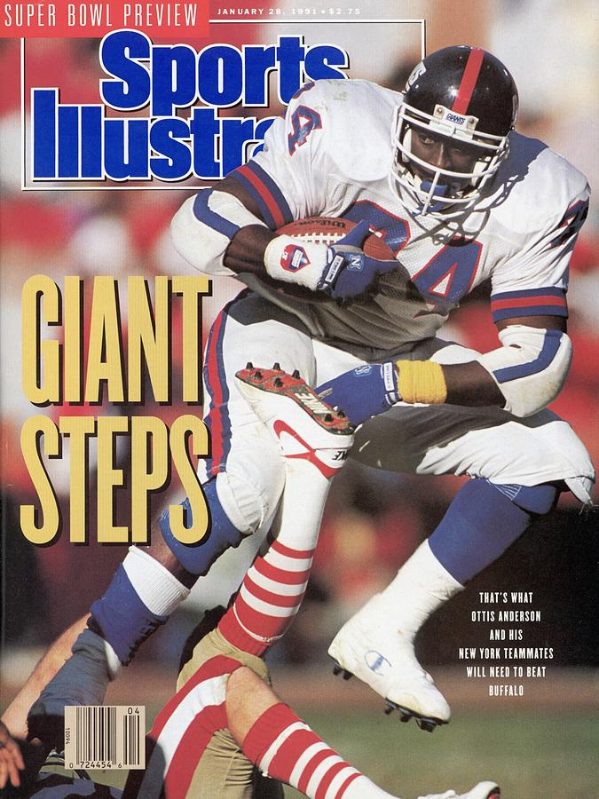 New York Giants Ottis Anderson, 1991 Nfc Championship Sports Illustrated Cover Photograph by Sports Illustrated