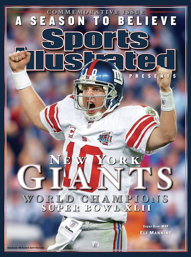 New York Giants Qb Eli Manning, Super Bowl Xlii Champions Sports Illustrated Cover Photograph by Sports Illustrated