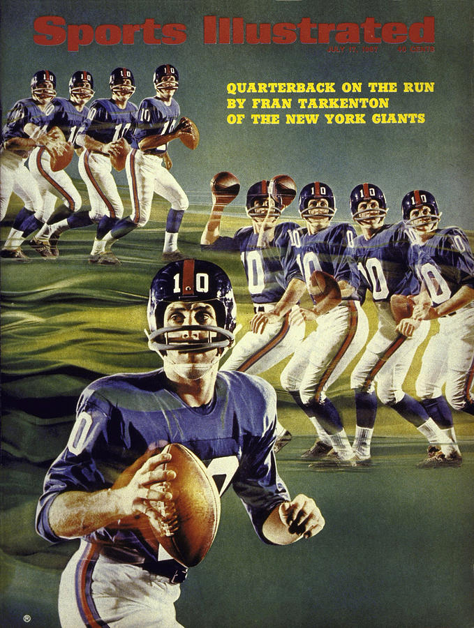 New York Giants Qb Fran Tarkenton Sports Illustrated Cover Photograph by Sports Illustrated
