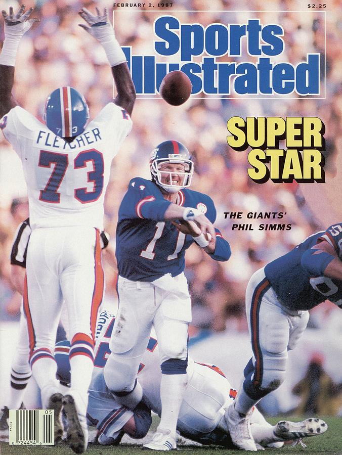 New York Giants Qb Phil Simms, Super Bowl Xxi Sports Illustrated Cover Photograph by Sports Illustrated