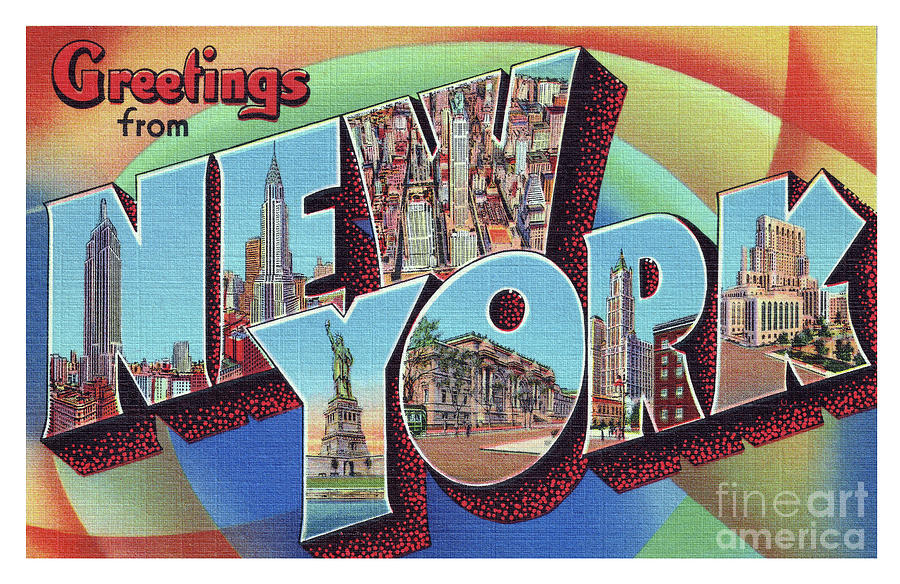 New York Greetings - Version 2 by Mark Miller
