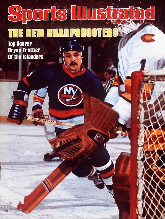 New York Islanders Bryan Trottier... Sports Illustrated Cover Photograph by Sports Illustrated