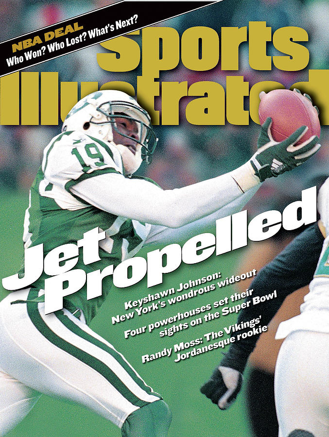 New York Jets Keyshawn Johnson, 1999 Afc Divisional Playoffs Sports Illustrated Cover Photograph by Sports Illustrated