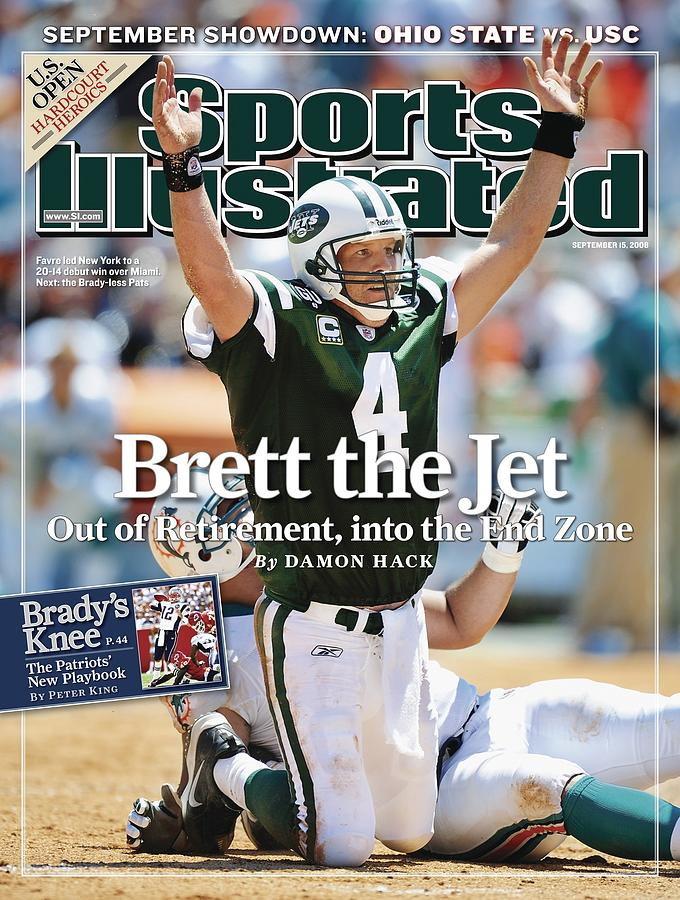 New York Jets Qb Brett Favre... Sports Illustrated Cover Photograph by Sports Illustrated