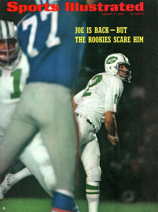 New York Jets Qb Joe Namath, 1969 Chicago Tribune Charities Sports Illustrated Cover Photograph by Sports Illustrated