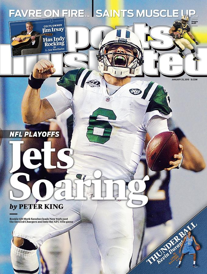New York Jets Qb Mark Sanchez, 2010 Afc Divisional Playoffs Sports Illustrated Cover Photograph by Sports Illustrated
