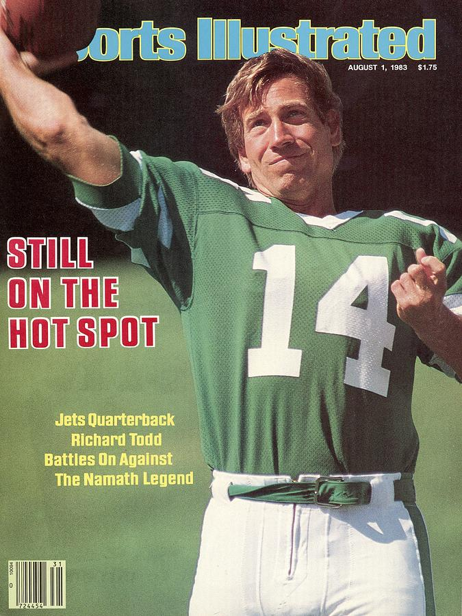 New York Jets Qb Richard Todd... Sports Illustrated Cover Photograph by Sports Illustrated