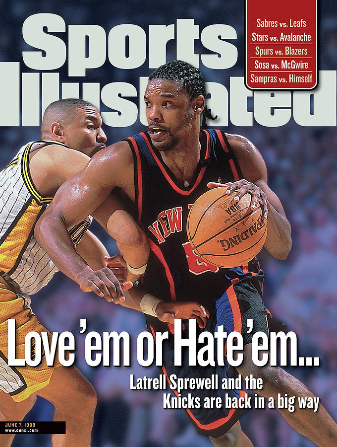 New York Knicks Latrell Sprewell, 1999 Nba Eastern Sports Illustrated Cover Photograph by Sports Illustrated