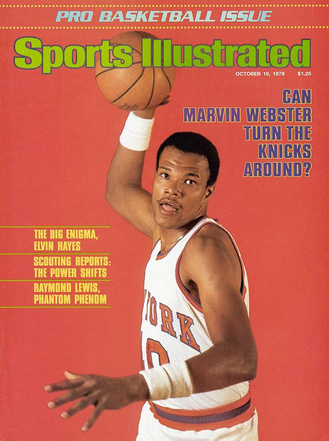 New York Knicks Marvin Webster Sports Illustrated Cover Photograph by Sports Illustrated