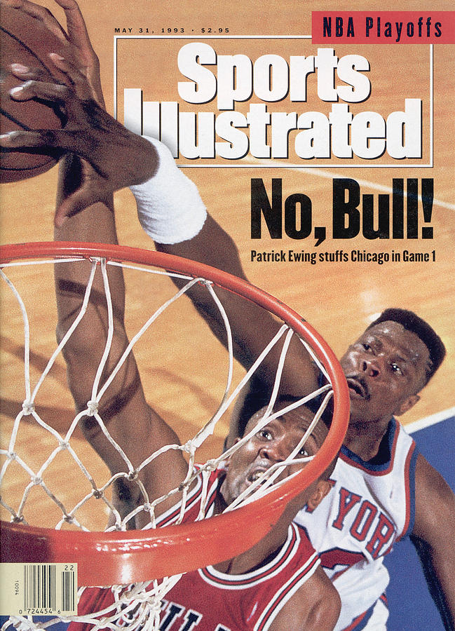 New York Knicks Patrick Ewing, 1993 Nba Eastern Conference Sports Illustrated Cover Photograph by Sports Illustrated